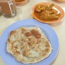 Plain Roti Prata ($1.20) + Curry Chicken ($4)