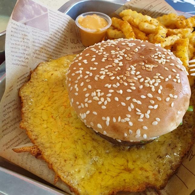 Cheese Skirt Burger Set ($8.90)