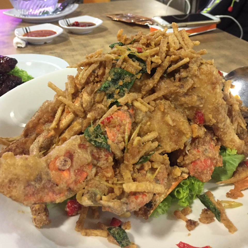 Salted Egg Crab with shredded Yam