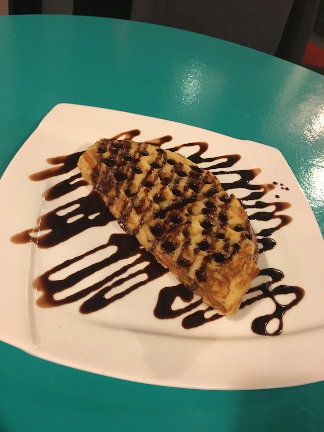 VEGAN Chocolate Waffle With Drizzle