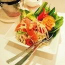 Som tum #salad #thaifood #spicy #papaya #yum #delish #instagram #instafood #foodgasm #foodstagram #delicious #fresh #Singapore #foodporn