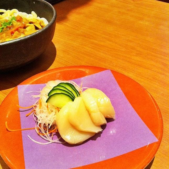 Scallops by Ichiban Boshi, Singapore #scallops #raw #sashimi #yum #yummy #instafood #delicious #foodie #foodgasm #foodporn #foodaddict #instamood #japanese #instagood #igdaily