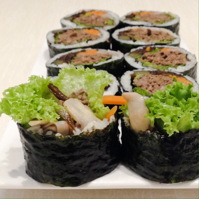 For Healthy Korean Gimbap and Tea