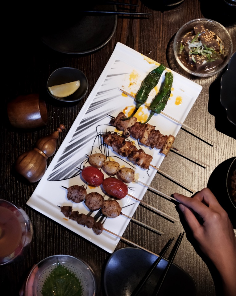 For Szechuan Yakitori and Cocktails