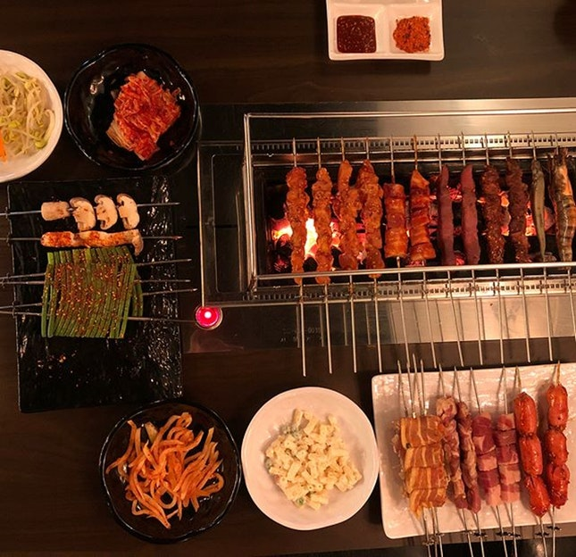 For a Korean Skewer Barbecue