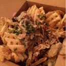 Pulled Pork Waffle Fries ($15)
