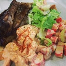 Lamb Ribs with Salads