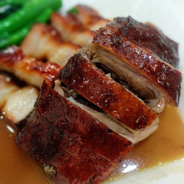 Roast Duck And Char Siew Rice