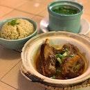 Caramelised Pork Rib Rice .