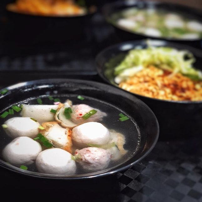Bouncy Fishball noodles .