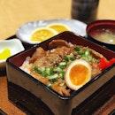 Sudden craving for Japanese rice Black Pig Toro Yakiniku Jyu at #tampoposg decent enough to satisfy my craving 😋 .