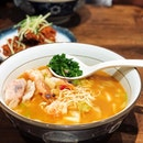 Checking out #leshrimpramen Signature Trio Shrimp Ramen Enjoying their 1 for 1 promo .