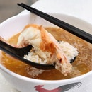 Love the broth of this King Prawn Teochew Pao Fan (泡饭) from @zuiteochewcuisine and the prawns are really fresh too .