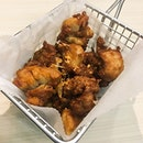 Deep Fried Garlic Chicken  The pieces of fried chicken were crispy and fragrant, with hints of garlic, that can be dipped into the Thai chilli sauce provided!