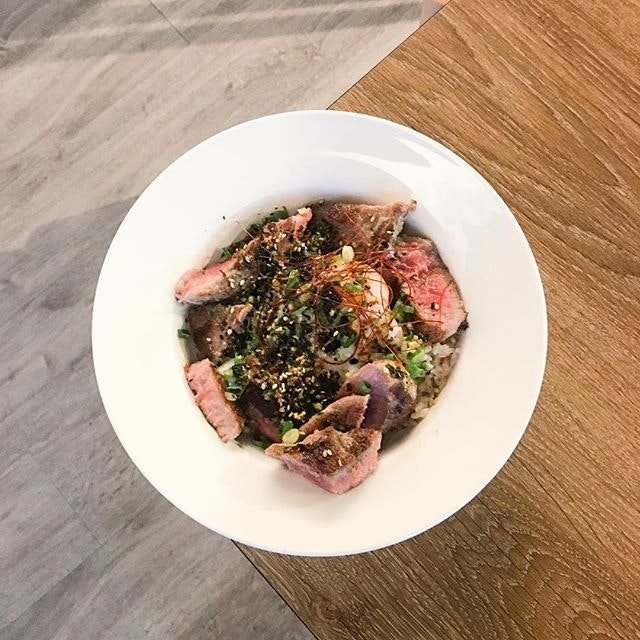 Hokubee Ribeye Donburi  The ribeye was cooked till medium, with each piece being tender and bursting with much flavours!