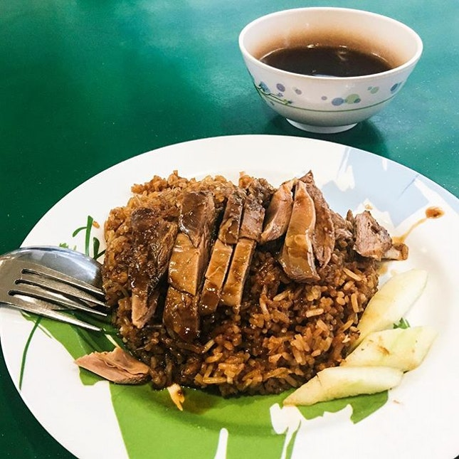 Braised Duck Rice from Jing Hui Duck Noodle .