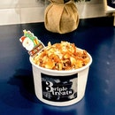 3riple Treats Special  This sundae comes with cheese ice cream that carries a savoury taste, topped with figs and candied almonds which added an element of sweetness to the dessert and layered with orange-saffron syrup for a more zesty sensation!