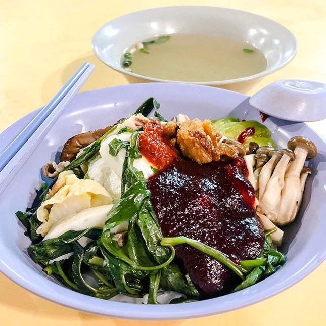 Yong Tau Foo from Soon Lee Yong Tau Foo  Open only during late nights, the stall offers a extensive range of yong tau foo items, with the items chosen being priced based on an estimate and served in different sizes of bowls and pots accordingly.