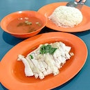 Steamed Chicken Rice from Mandarin Best Chicken Rice  Plenty of chicken is given for a person's portion of chicken rice here, that tasted tender and nicely seasoned, with the rice being fragrant and not clumpy!