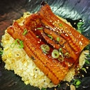 Unagi with garlic fried rice at @unclekiisu !
