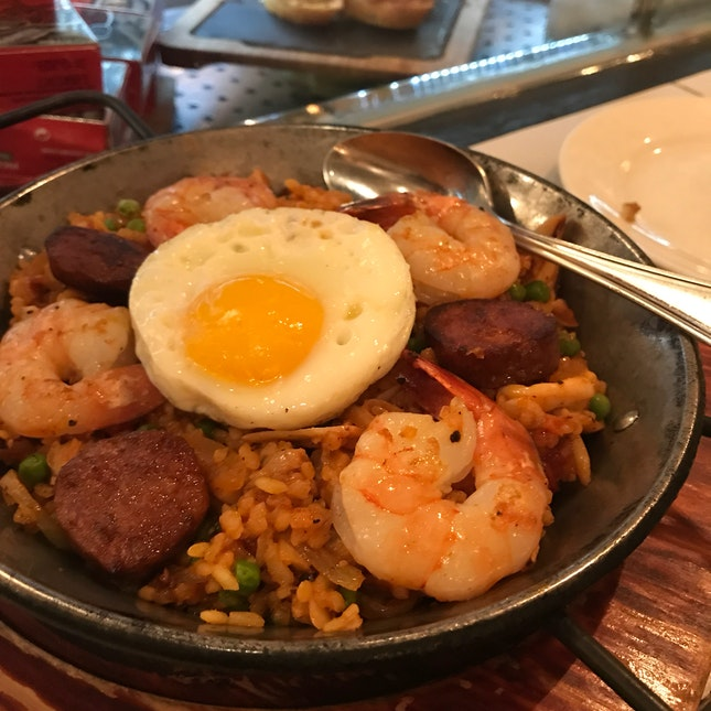Seafood & Meat Spanish Fried Rice ($16)