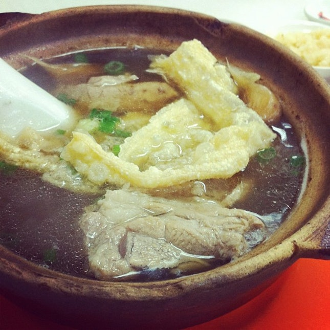 Bak kut teh / herbal pork ribs soup for lunch!