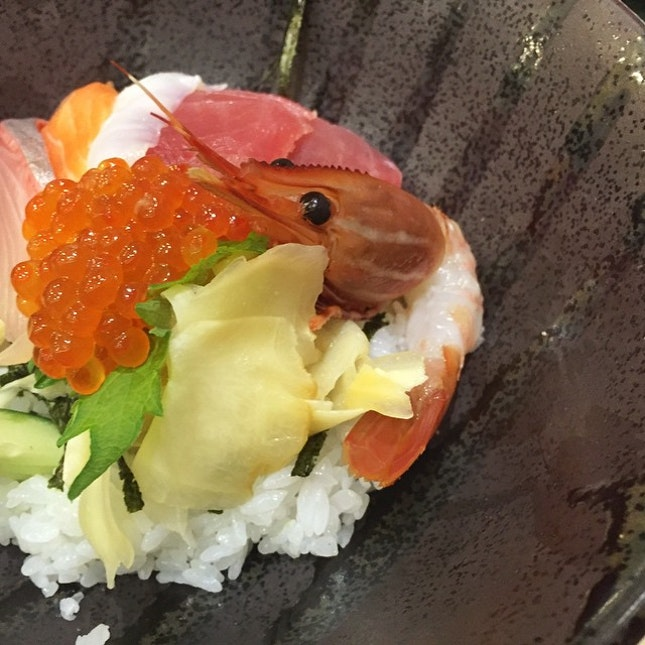 Chirashi Lunch Set - Often depicted as happiness in a bowl 😊.