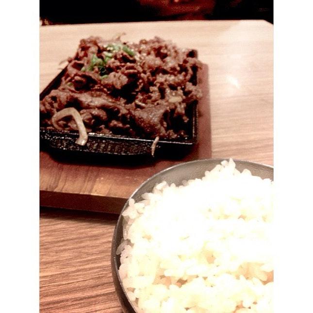 Beef Bulggogi for twinny #beef #rice #seoulgarden #hotpot #dinner