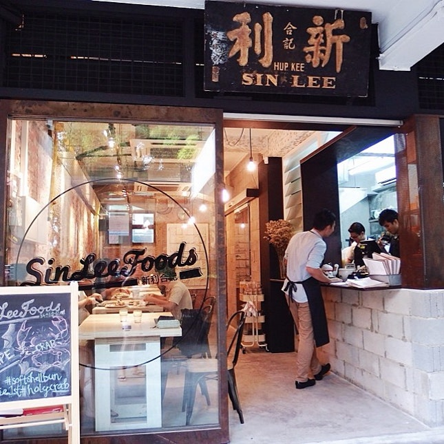 Sin Lee Foods, probably the most hip cafe for Jalan Bukit Ho Swee district - With their signature Fried Chicken & Waffle.