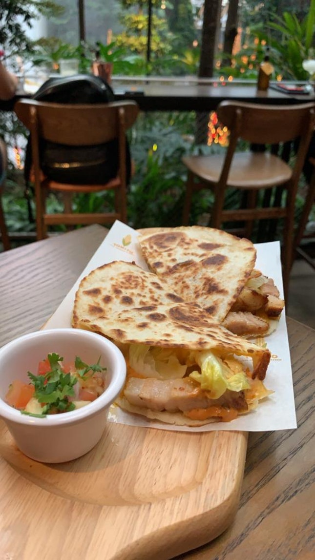 Pork Quesadilla With A View!