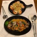 Seafood Angel Hair Pasta/ Gambas Prawn Pasta