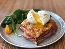 Croque Monsieur ($9 + $1.50 egg) 🍞🍳 Aka grilled ham and cheese toast ⭐️ 4.5/5 ⭐️ 🍴Affordable & satisfying brunch option at #oldhencoffeebar, the 'cheaper' alternative to its sister branch of #oldhenkitchen.