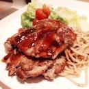 teriyaki chicken chop $9.20++ #lunch #eatout #sgfood #nomnom #foodporn #western #teriyaki #chickenchop #whatiate #eatsimple #burpple #foodgasm #instafood #igsg #nex #hottomato #food #inmytummy