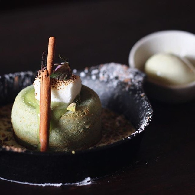 A brunch affair at FYR isn't complete without having their best-selling dessert, Baked Pistachio Melt & Pandan Ice Cream $10.