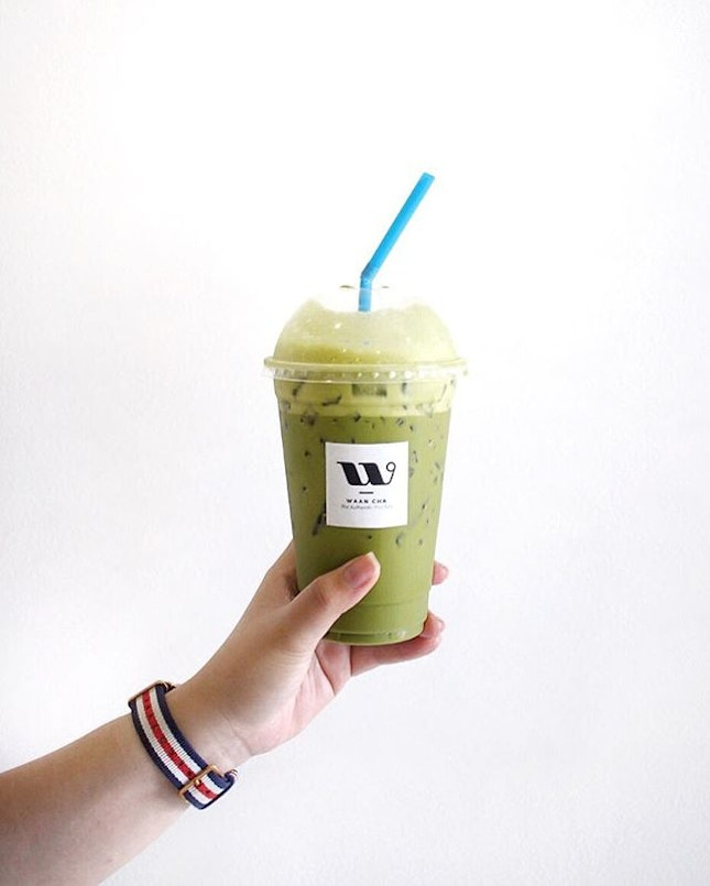 Thai Green Milk Tea $3.30 from Waan Cha to conquer the heat.