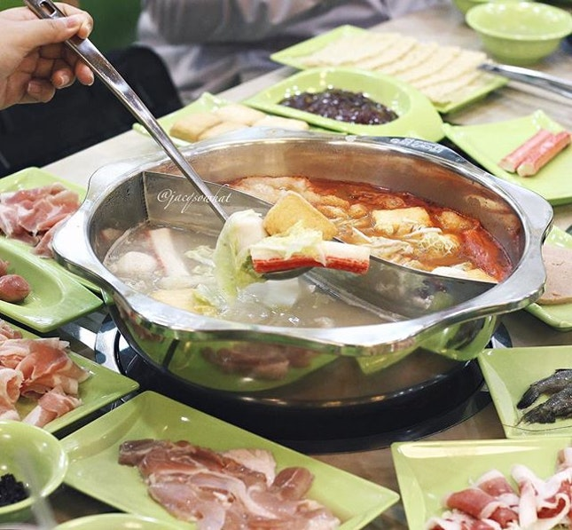 Pin Xian Lou situated at Geylang Road is Golden Jade restaurant's newest outlet, serving Chinese style steamboat buffet.