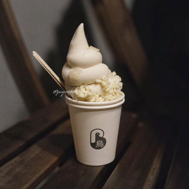Two new soft serve flavour at Brother Bird, Avocado and Wintermelon ($6 each).