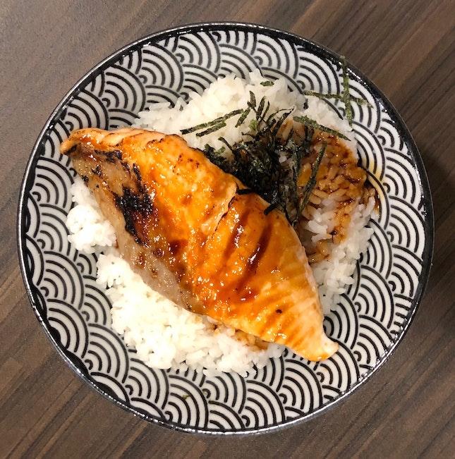 Salmon Teriyaki Don ($12)
