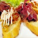 Parma Ham & Tomato Prawn Mayo Bruschetta ☺