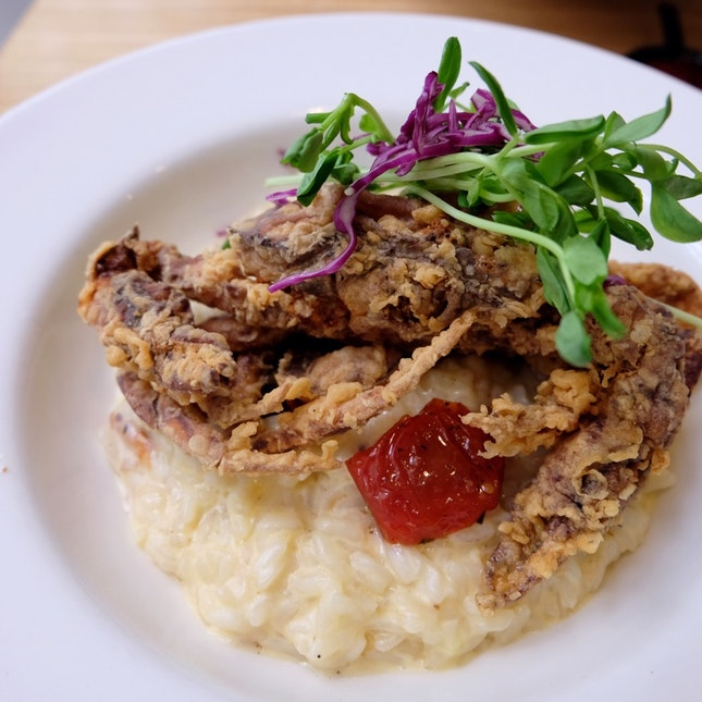 Blue Swimmer & Soft Shell Crab Risotto