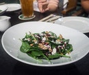 Baby Spinach Salad ($12++)