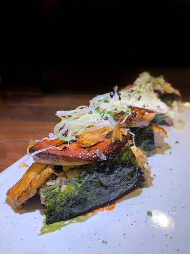 Truffle Unagi & Foie Gras Futo Sushi ($9.90++/2pcs)
