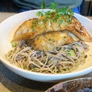 Roasted Cos & Soba Noodle Salad ($21.5+)
