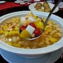 Double boiled mix fruit Sago & almond beancurd
