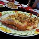 Baked king prawn with garlic & cheese