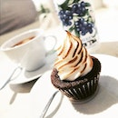 Smores Cupcake with Earl Grey Tea.