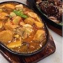 Hotplate Tofu + Hotplate deer Meat