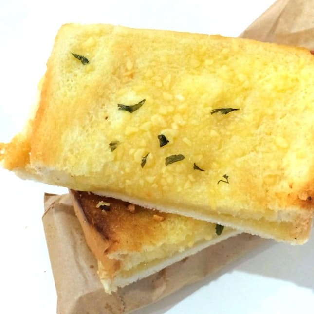 Tea time snack of Garlic with Cheese Toast Bread.
