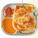 Roti Prata is a well-loved hawker food in Singapore.