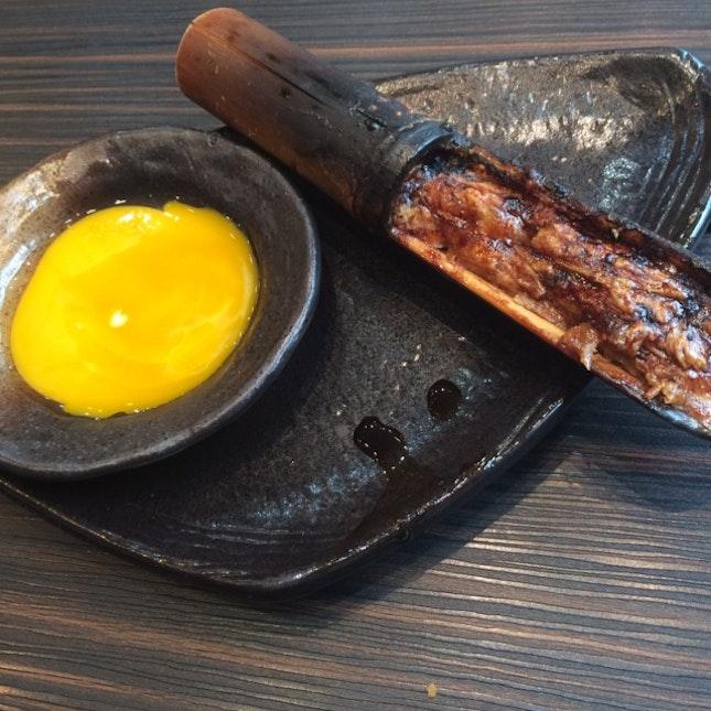 Bamboo Chicken W Raw Egg